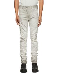 Boris Bidjan Saberi Grey Painted P13 Jeans
