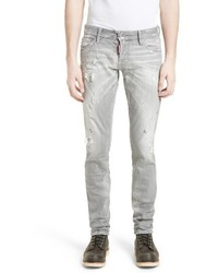 DSQUARED2 Grey Slim Fit Jeans