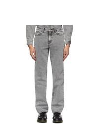 We11done Grey Stonewashed Jeans