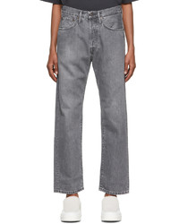 Acne Studios Grey Straight Fit Jeans