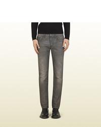 Gucci Light Grey Stonewashed Skinny Jean