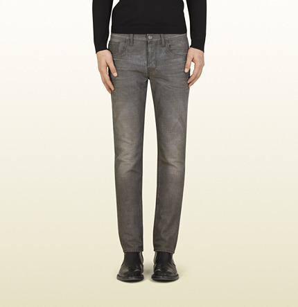 Gucci Light Grey Stonewashed Skinny Jean