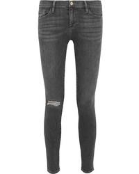 Le skinny de jeanne mid rise jeans gray medium 972374