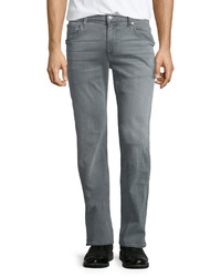 7 For All Mankind The Straight Dispatch Denim Jeans Gray