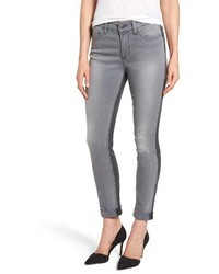 Two tone stretch girlfriend jeans medium 3992457
