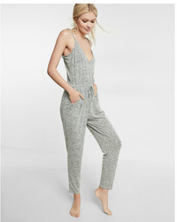 Express One Eleven Heathered Surplice Jumpsuit