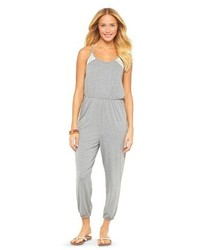 Mossimo Supply Co Racerback Jumpsuit With Lace Detail Supply Cotm