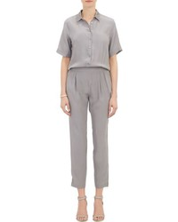 ATM Anthony Thomas Melillo Washed Silk Jumpsuit Grey Size S