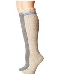 Steve Madden 2 Pack Varsity Lace Knee High Knee High Socks Shoes