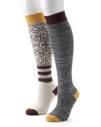 UNIONBAY 2 Pk Knee High Socks