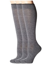 Smartwool Basic Knee High 3 Pack Knee High Socks Shoes