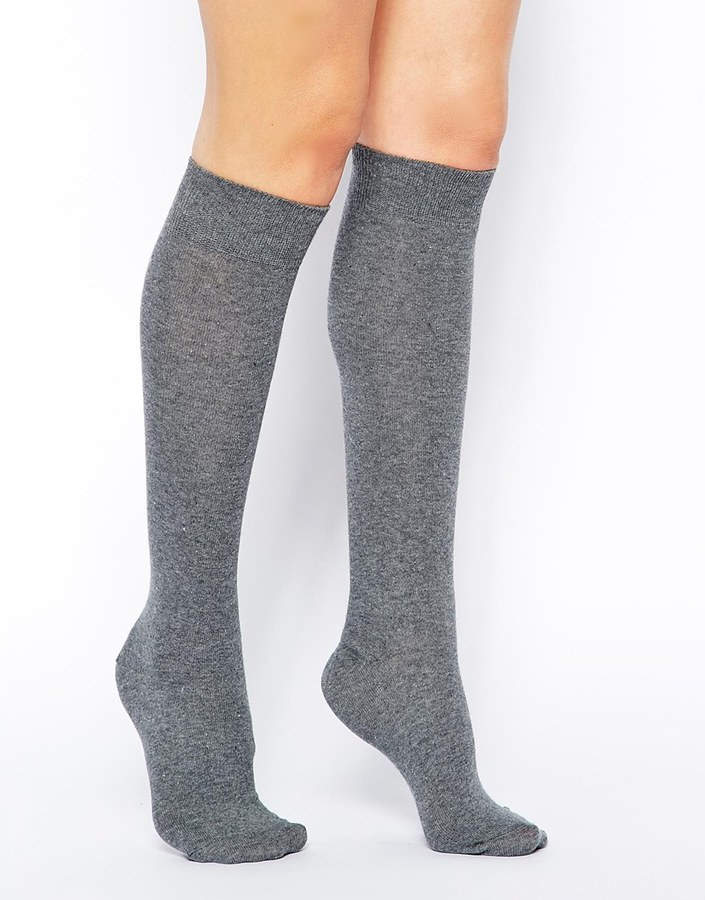 4fe3ecd47 ... Grey Knee High Socks Asos Collection Knee High Socks ...
