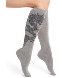 Natori Dragon Pattern Knee High Socks