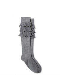 Legale Tri Ruffle Knee High Socks