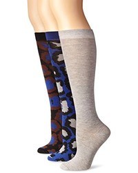 Steve Madden Legwear 3 Pack Animal Knee High Sock