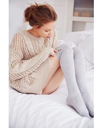 Urban Outfitters Lightweight Button Rib Over The Knee Sock