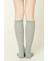 45aaecbee ... Forever 21 Open Knit Knee High Socks
