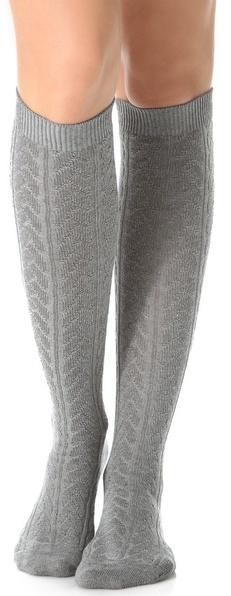 7e769f81b52 ... Falke Striggings Cable Knit Knee High Socks ...