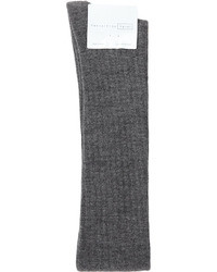 Hansel from Basel Wool Rib Thigh High Socks