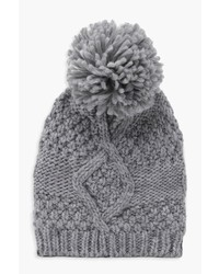 Boohoo Alice Cable Knitted Pom Beanie