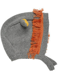 Stella McCartney Chips Knit Lion Hat Gray