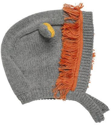 Stella McCartney Chips Knit Lion Hat Gray