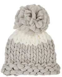 Barneys New York Colorblocked Chunky Knit Beanie