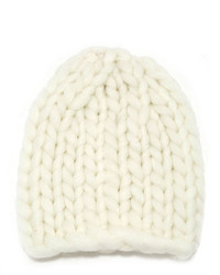 Cuddled Up Ivory Knit Beanie