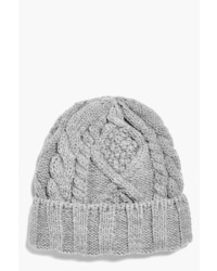Boohoo Girls Cable Knit Beanie