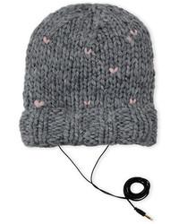 Rebecca Minkoff Hand Knit Heart Stitch Beanie
