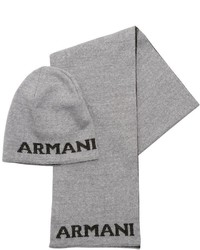 Armani Junior Reversible Knit Wool Blend Scarf Hat