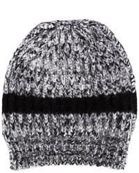 Rochas Knitted Stripe Beanie