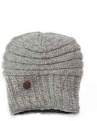 Sijjl Oversized Button Wool Beanie