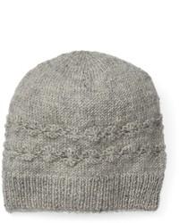 Sijjl Sijjl Wool Cable Knit Floral Beanie