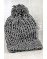 LuLu*s Snow Bodys Business Beige Knit Beanie