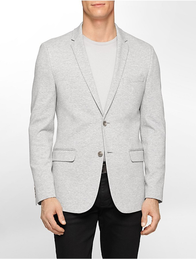 Calvin Klein Classic Fit Unstructured Knit Sports Jacket | Where ...