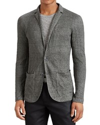 John Varvatos Collection Notch Lapel Knit Blazer