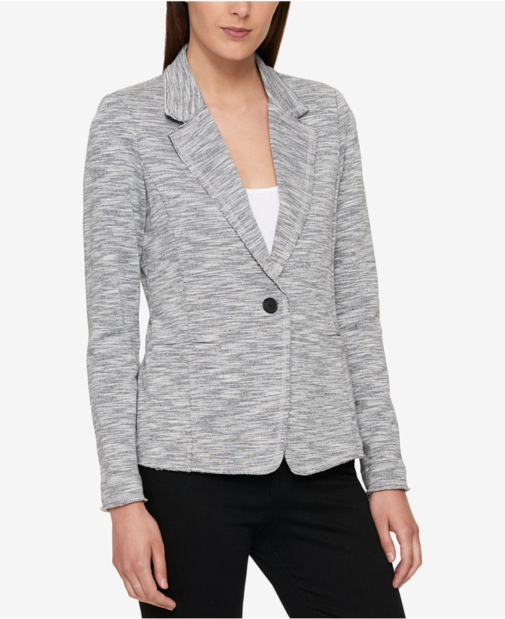 Tommy Hilfiger One Button Knit Blazer Created For Macys