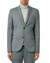 Topman Skinny Fit Jersey Suit Jacket