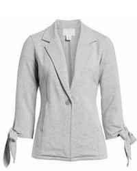 Tie sleeve stretch knit blazer medium 6987406