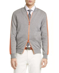 Eleventy Trim Fit Stripe Track Jacket