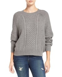Grey Knit Cable Sweater