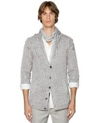 Cable knit cotton cardigan medium 3675458