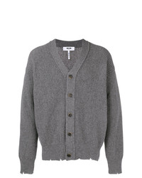 MSGM Distressed Knit Cardigan