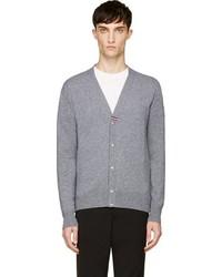 Moncler Gamme Bleu Grey Cashmere Cardigan
