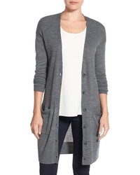 Halogen rib knit wool blend cardigan medium 757407