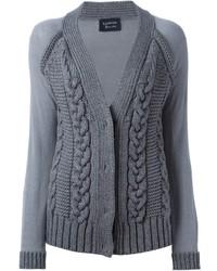 Lanvin Contrasting Sleeve Cardigan