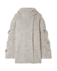 See by Chloe Mlange Ribbed Knit Cardigan