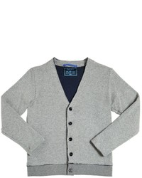 Myths Doubled Knitted Cotton Blend Cardigan