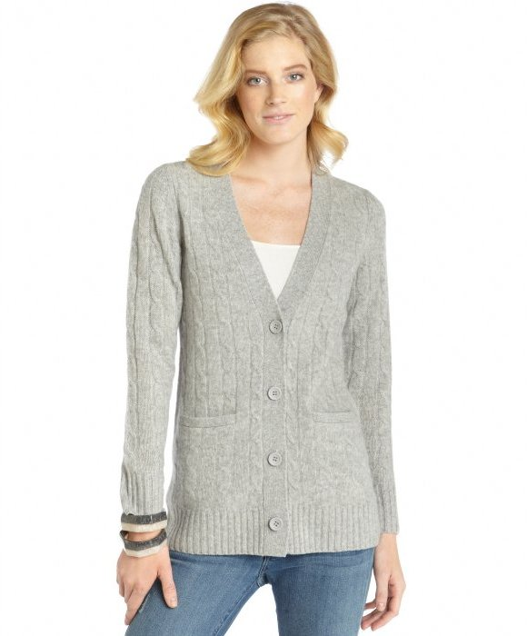 Hayden Raspberry Cable Knit Cashmere Boyfriend Cardigan | Where to ...